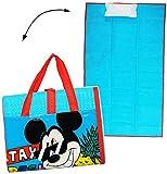 alles-meine.de GmbH gepolsterte _ Strandmatte / Strandunterlage -  Disney Mickey Mouse  - 75 cm * 150 cm - Faltbare Picknick Decke / als Unterlage Isomatte - für Badetuch / Han..