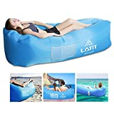 LATIT Aufblasbares Sofa, Luftsofa Air Couch Luftcoach Air Lounger Sofa Wasserdicht Tragbar Luftsack Aufblasbare Sofa Luft Couch für Indoor Oder Outdoor, Reisen, Camping,Strand -Blau